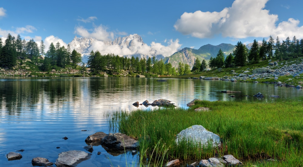 Arpy lake, Aosta Valley